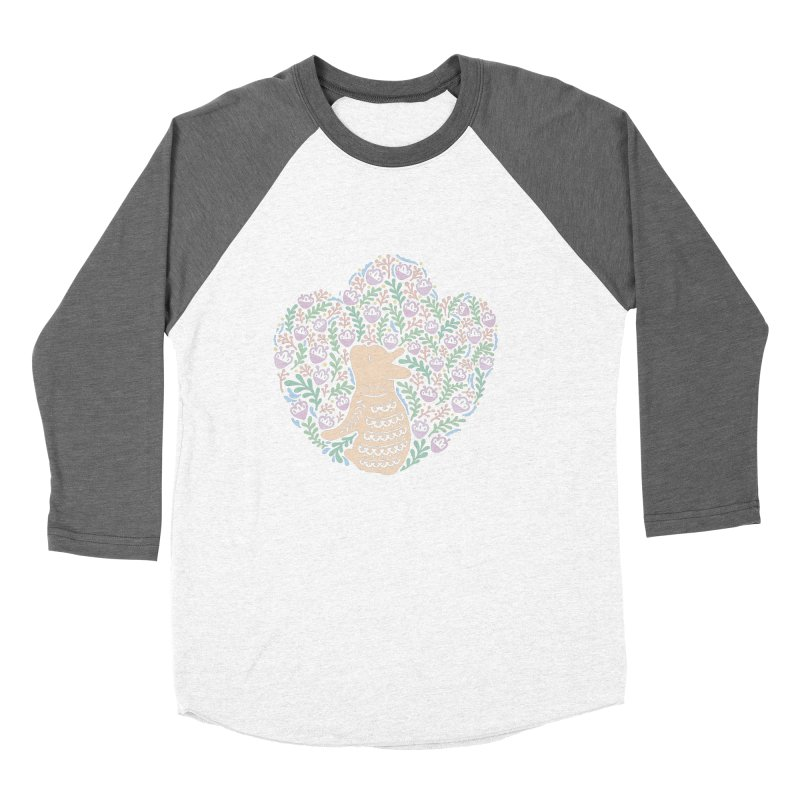 Cream Frenchie and the Spring foliage Women's Baseball Triblend Longsleeve T-Shirt by Emotional Frenchies - Cute French Bulldog T-shirts