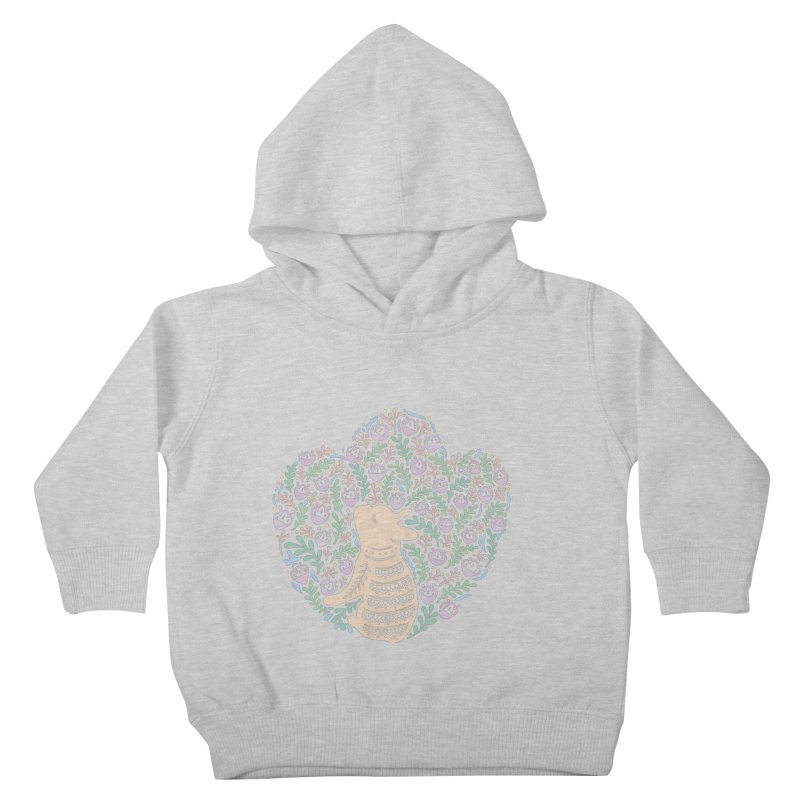 Cream Frenchie and the Spring foliage Kids Toddler Pullover Hoody by Emotional Frenchies - Cute French Bulldog T-shirts