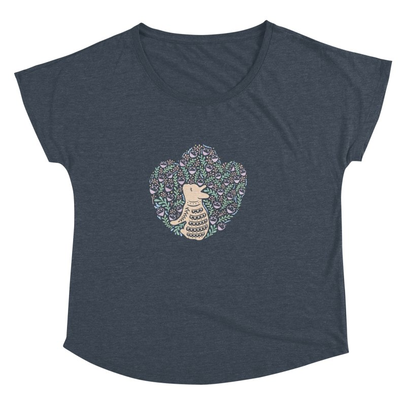 Cream Frenchie and the Spring foliage Women's Dolman Scoop Neck by Emotional Frenchies - Cute French Bulldog T-shirts