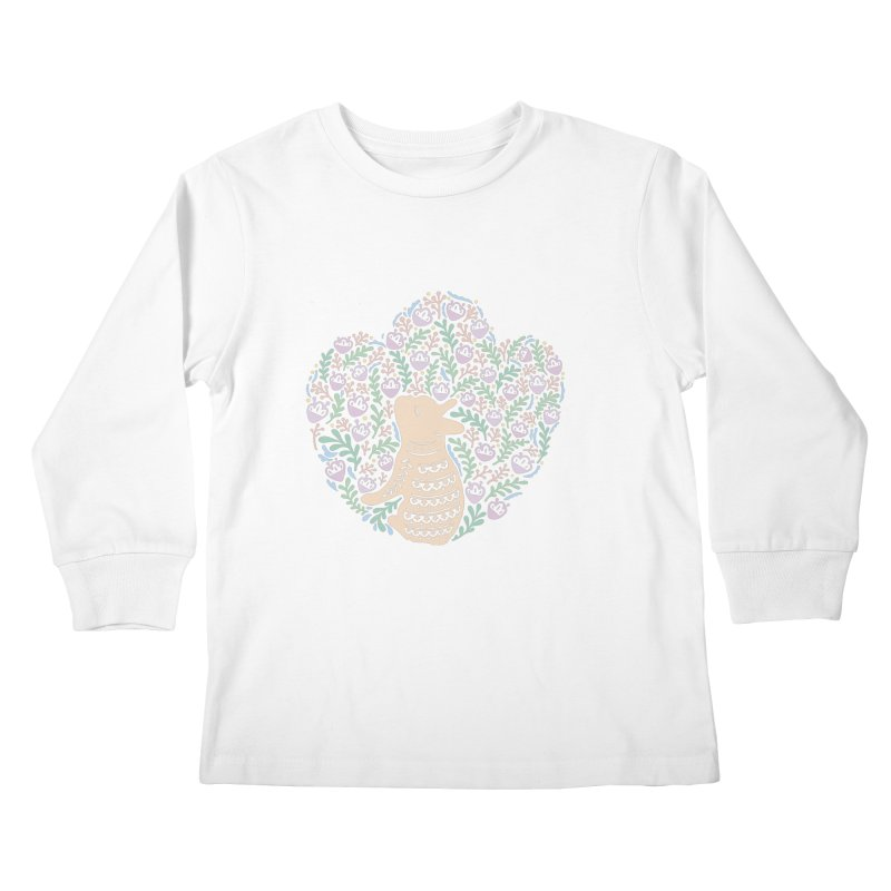 Cream Frenchie and the Spring foliage Kids Longsleeve T-Shirt by Emotional Frenchies - Cute French Bulldog T-shirts