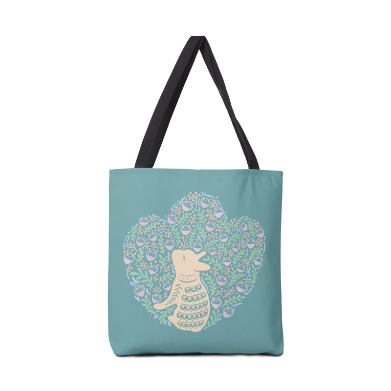 Cream Frenchie and the Spring foliage Accessories Tote Bag Bag by Emotional Frenchies - Cute French Bulldog T-shirts