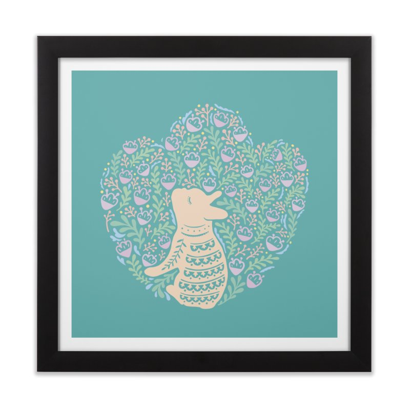 Cream Frenchie and the Spring foliage Home Framed Fine Art Print by Emotional Frenchies - Cute French Bulldog T-shirts