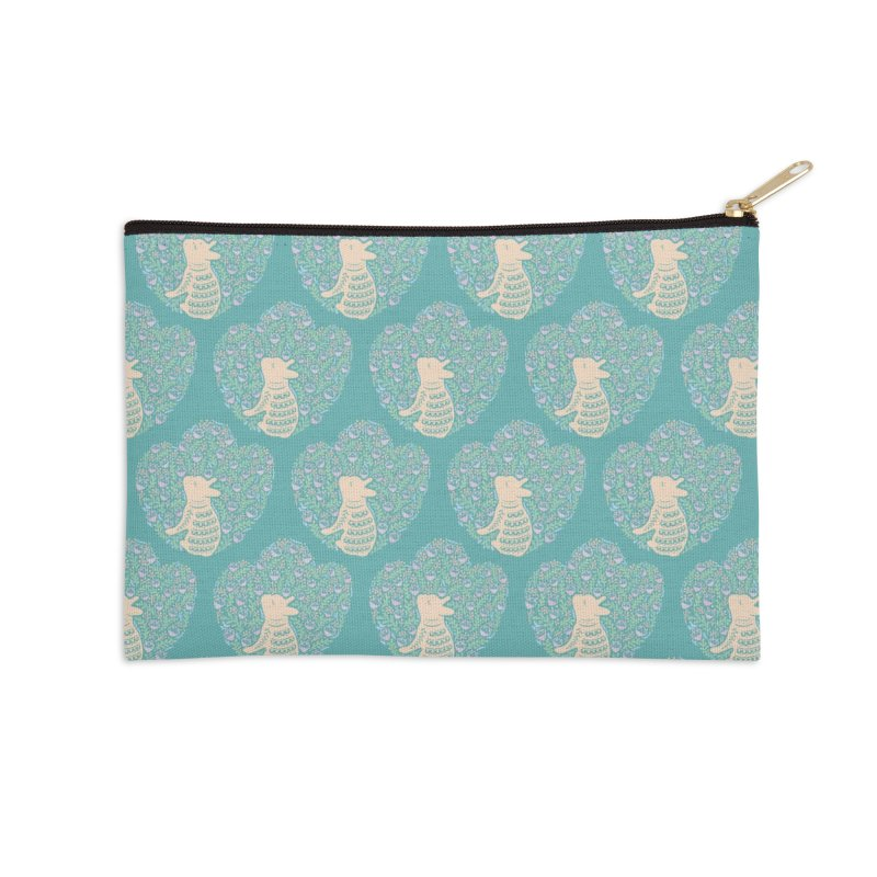 Cream Frenchie and the Spring foliage Accessories Zip Pouch by Emotional Frenchies - Cute French Bulldog T-shirts