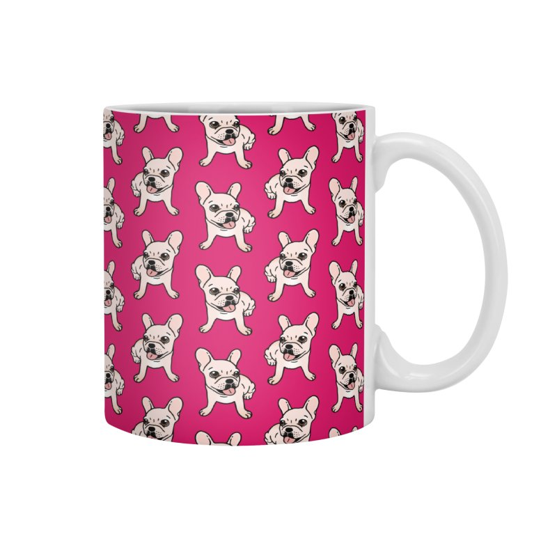 Cute cream Frenchie is ready to play Accessories Mug by Emotional Frenchies - Cute French Bulldog T-shirts