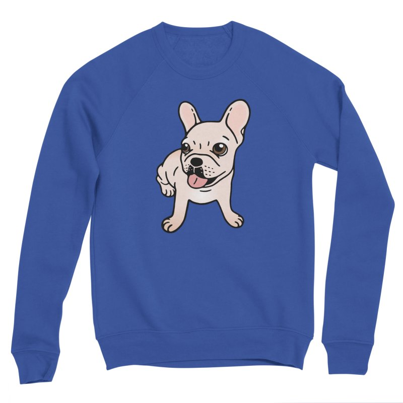 Cute cream Frenchie is ready to play Men's Sweatshirt by Emotional Frenchies - Cute French Bulldog T-shirts