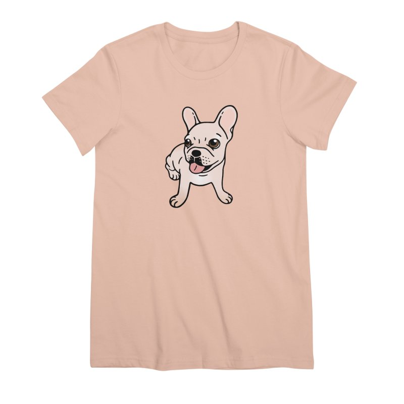 Cute cream Frenchie is ready to play Women's Premium T-Shirt by Emotional Frenchies - Cute French Bulldog T-shirts
