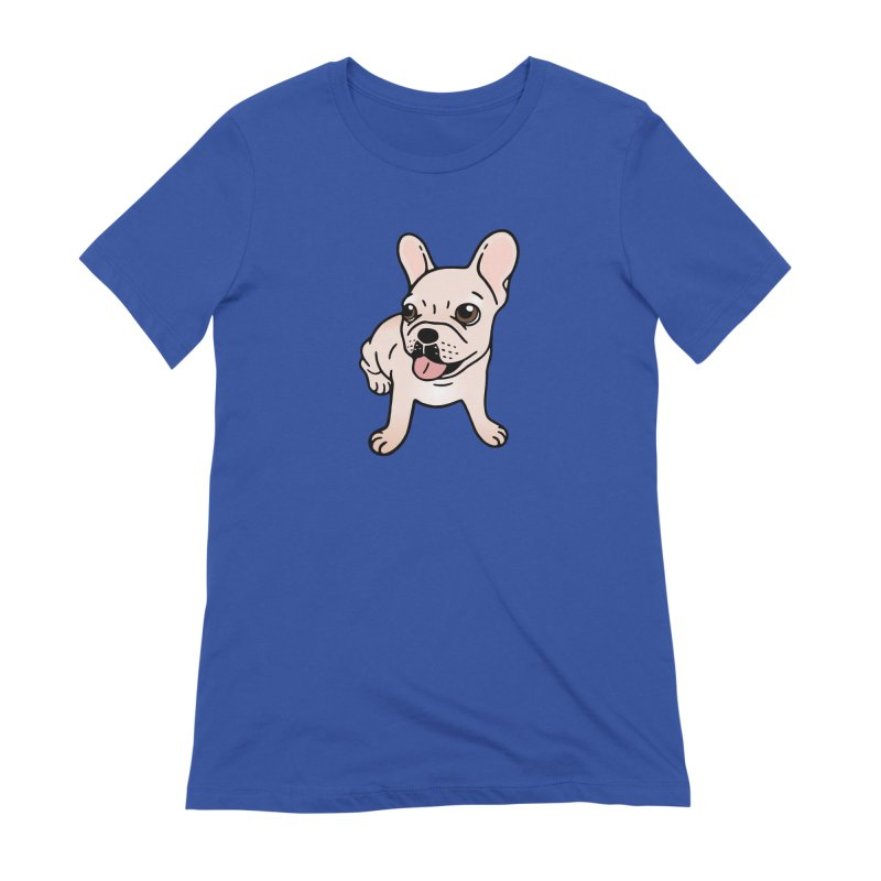 Cute cream Frenchie is ready to play Women's Extra Soft T-Shirt by Emotional Frenchies - Cute French Bulldog T-shirts
