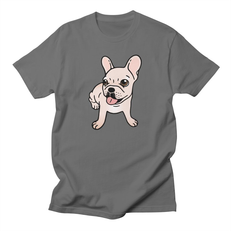 Cute cream Frenchie is ready to play Men's T-Shirt by Emotional Frenchies - Cute French Bulldog T-shirts