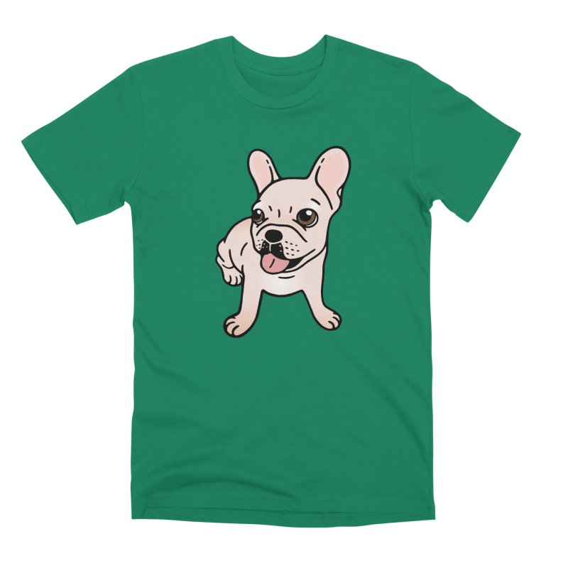 Cute cream Frenchie is ready to play Men's Premium T-Shirt by Emotional Frenchies - Cute French Bulldog T-shirts
