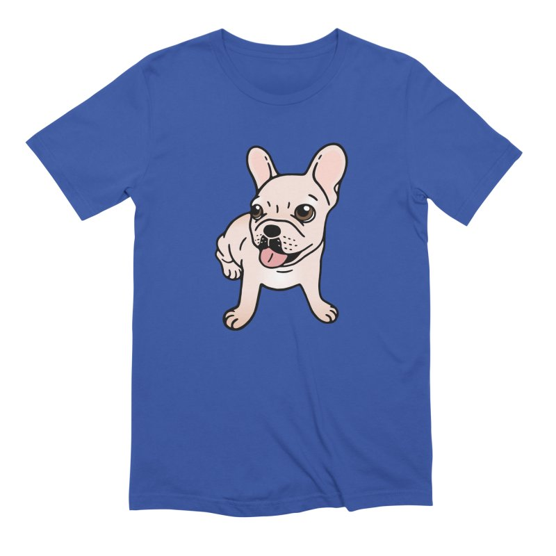 Cute cream Frenchie is ready to play Men's Extra Soft T-Shirt by Emotional Frenchies - Cute French Bulldog T-shirts