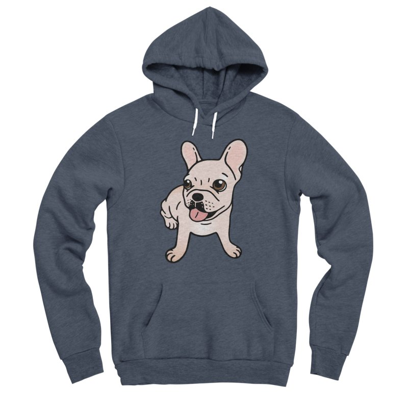 Cute cream Frenchie is ready to play Women's Sponge Fleece Pullover Hoody by Emotional Frenchies - Cute French Bulldog T-shirts