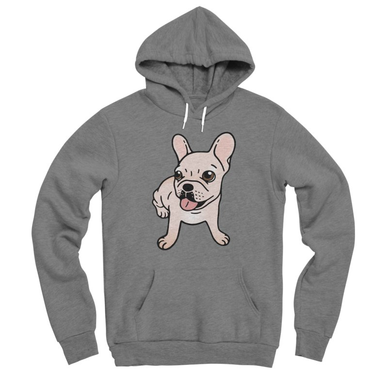 Cute cream Frenchie is ready to play Men's Sponge Fleece Pullover Hoody by Emotional Frenchies - Cute French Bulldog T-shirts