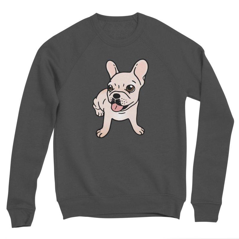 Cute cream Frenchie is ready to play Men's Sponge Fleece Sweatshirt by Emotional Frenchies - Cute French Bulldog T-shirts