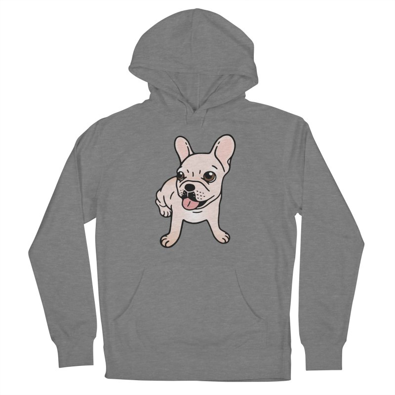 Cute cream Frenchie is ready to play Women's French Terry Pullover Hoody by Emotional Frenchies - Cute French Bulldog T-shirts