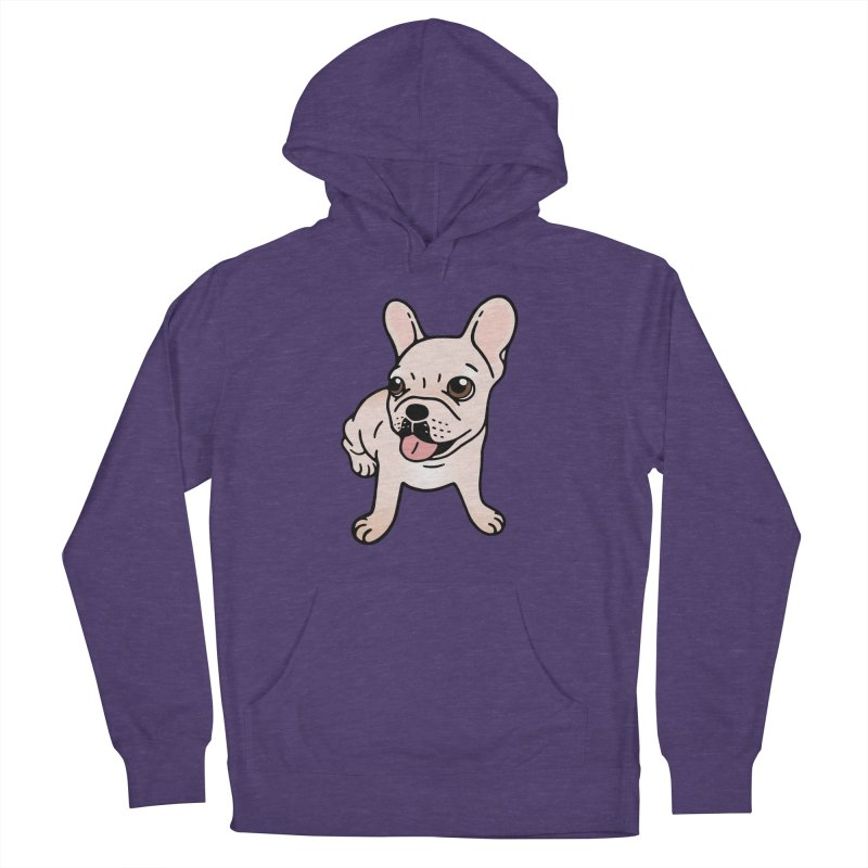 Cute cream Frenchie is ready to play Men's French Terry Pullover Hoody by Emotional Frenchies - Cute French Bulldog T-shirts