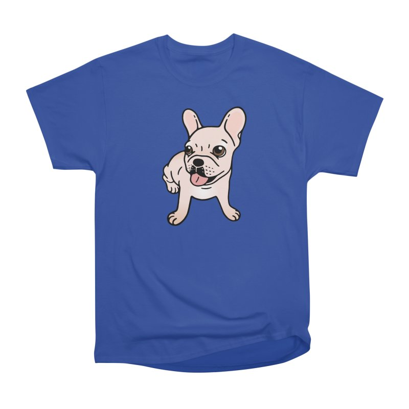 Cute cream Frenchie is ready to play Women's Heavyweight Unisex T-Shirt by Emotional Frenchies - Cute French Bulldog T-shirts