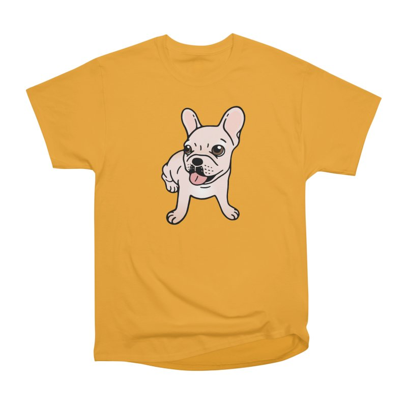 Cute cream Frenchie is ready to play Men's Heavyweight T-Shirt by Emotional Frenchies - Cute French Bulldog T-shirts