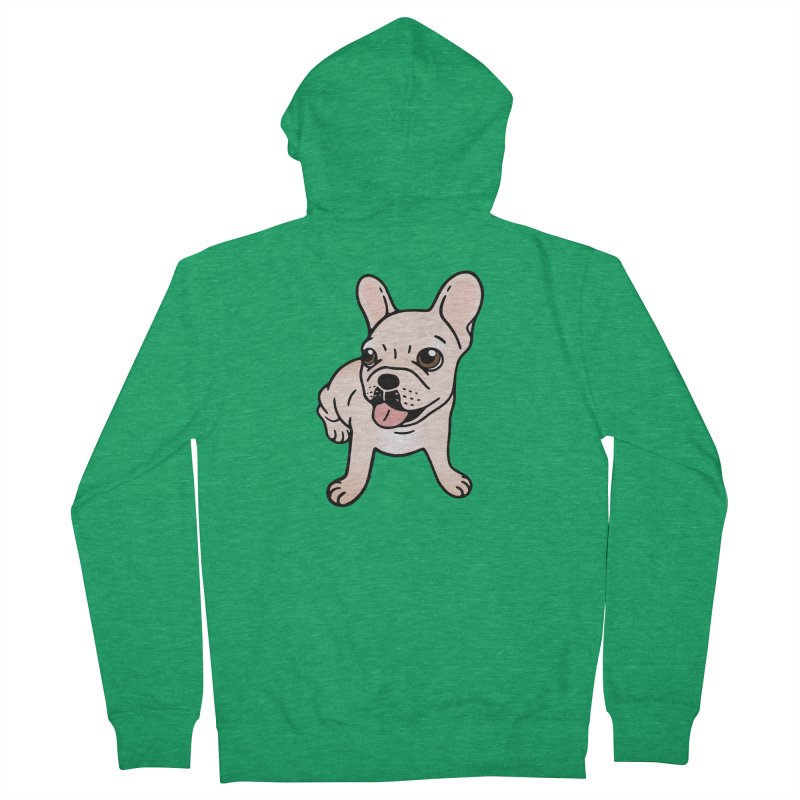 Cute cream Frenchie is ready to play Women's Zip-Up Hoody by Emotional Frenchies - Cute French Bulldog T-shirts