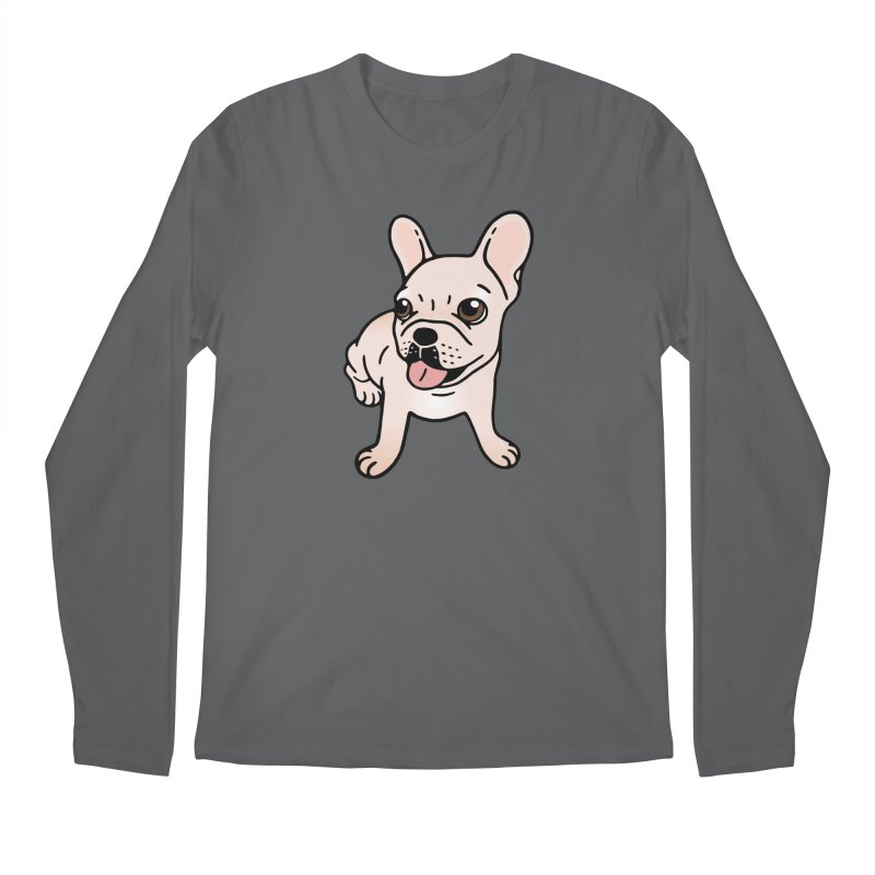 Cute cream Frenchie is ready to play Men's Longsleeve T-Shirt by Emotional Frenchies - Cute French Bulldog T-shirts