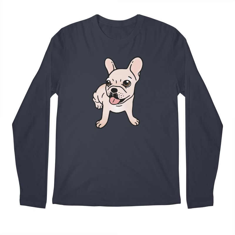 Cute cream Frenchie is ready to play Men's Regular Longsleeve T-Shirt by Emotional Frenchies - Cute French Bulldog T-shirts