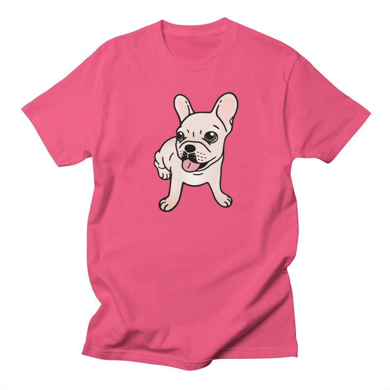 Cute cream Frenchie is ready to play Men's Regular T-Shirt by Emotional Frenchies - Cute French Bulldog T-shirts