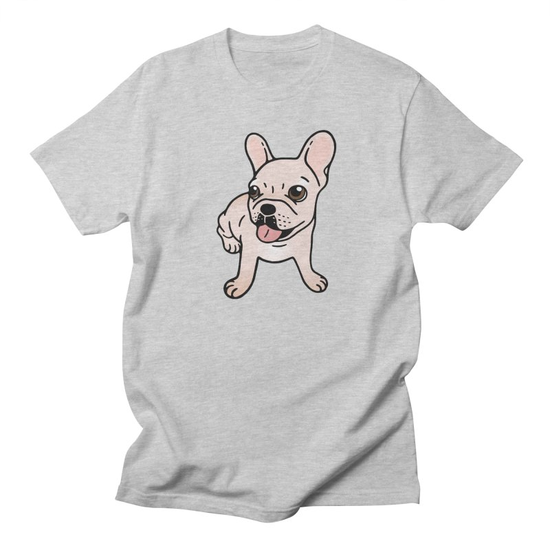 Cute cream Frenchie is ready to play Women's Regular Unisex T-Shirt by Emotional Frenchies - Cute French Bulldog T-shirts