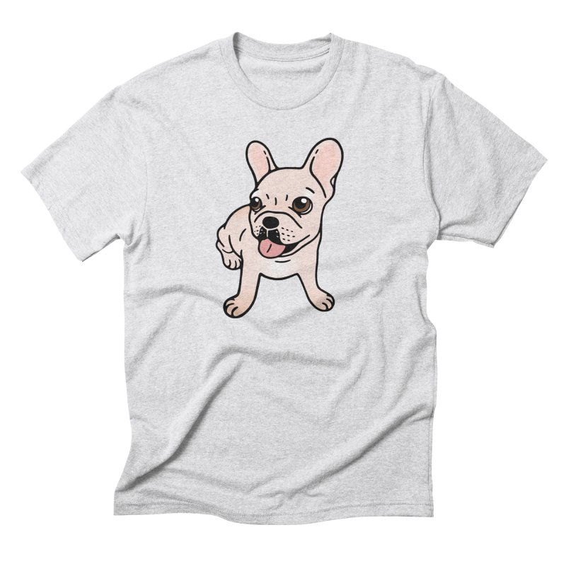 Cute cream Frenchie is ready to play Men's Triblend T-Shirt by Emotional Frenchies - Cute French Bulldog T-shirts
