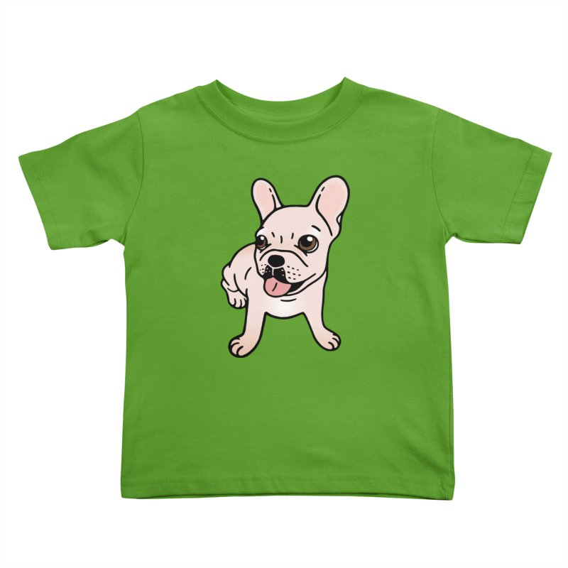 Cute cream Frenchie is ready to play Kids Toddler T-Shirt by Emotional Frenchies - Cute French Bulldog T-shirts