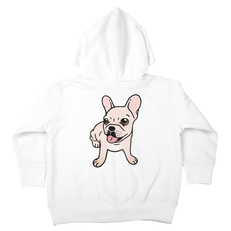 Cute cream Frenchie is ready to play Kids Toddler Zip-Up Hoody by Emotional Frenchies - Cute French Bulldog T-shirts