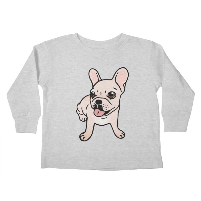 Cute cream Frenchie is ready to play Kids Toddler Longsleeve T-Shirt by Emotional Frenchies - Cute French Bulldog T-shirts