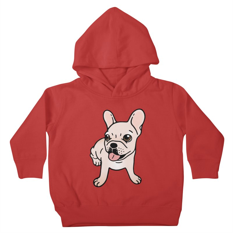 Cute cream Frenchie is ready to play Kids Toddler Pullover Hoody by Emotional Frenchies - Cute French Bulldog T-shirts