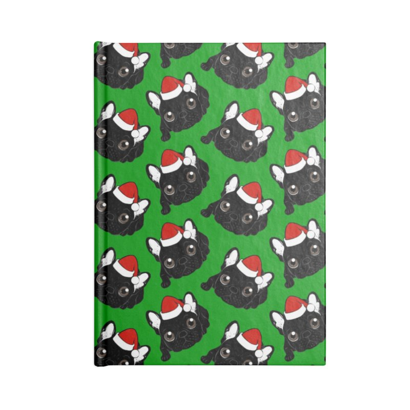 Brindle Frenchie loves Christmas season Accessories Notebook by Emotional Frenchies - Cute French Bulldog T-shirts