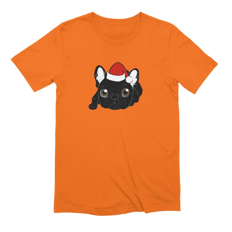 Brindle Frenchie loves Christmas season Men's Extra Soft T-Shirt by Emotional Frenchies - Cute French Bulldog T-shirts