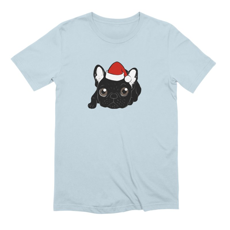 Brindle Frenchie loves Christmas season Men's Extra Soft T-Shirt by Emotional Frenchies - Cute French Bulldog T-shirts