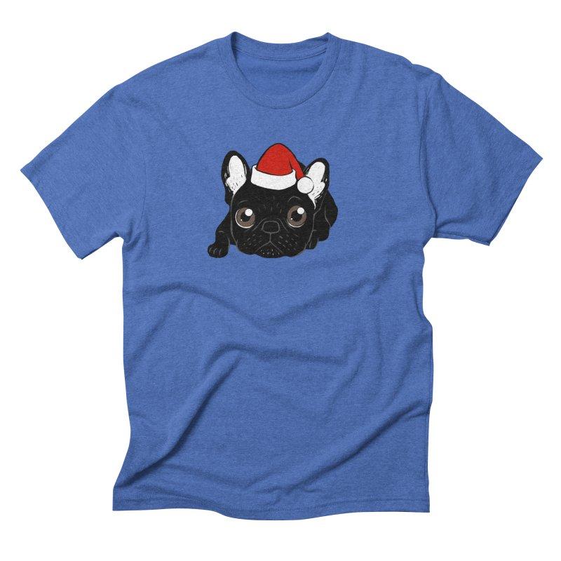 Brindle Frenchie loves Christmas season Men's T-Shirt by Emotional Frenchies - Cute French Bulldog T-shirts