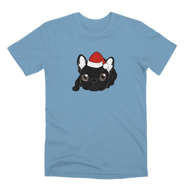 Brindle Frenchie loves Christmas season Men's Premium T-Shirt by Emotional Frenchies - Cute French Bulldog T-shirts