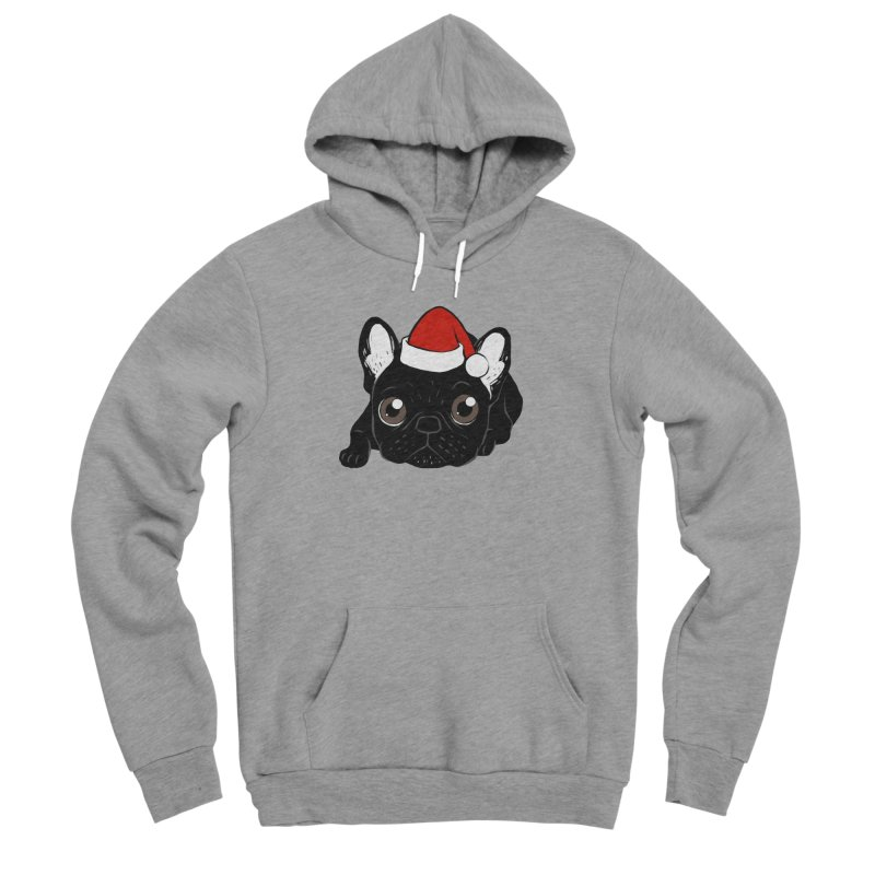 Brindle Frenchie loves Christmas season Women's Sponge Fleece Pullover Hoody by Emotional Frenchies - Cute French Bulldog T-shirts