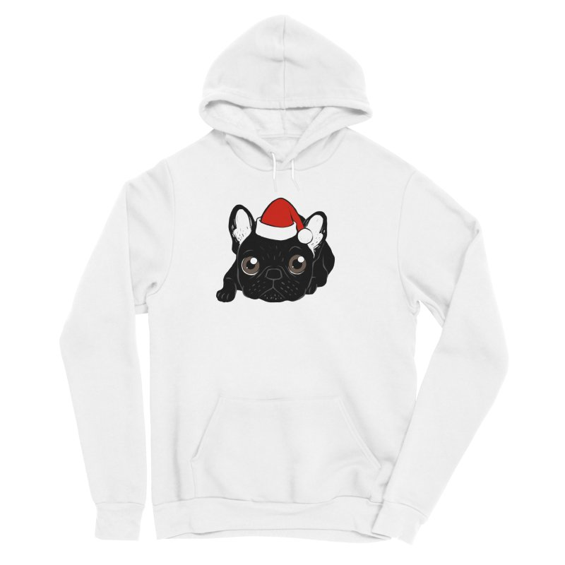 Brindle Frenchie loves Christmas season Men's Sponge Fleece Pullover Hoody by Emotional Frenchies - Cute French Bulldog T-shirts