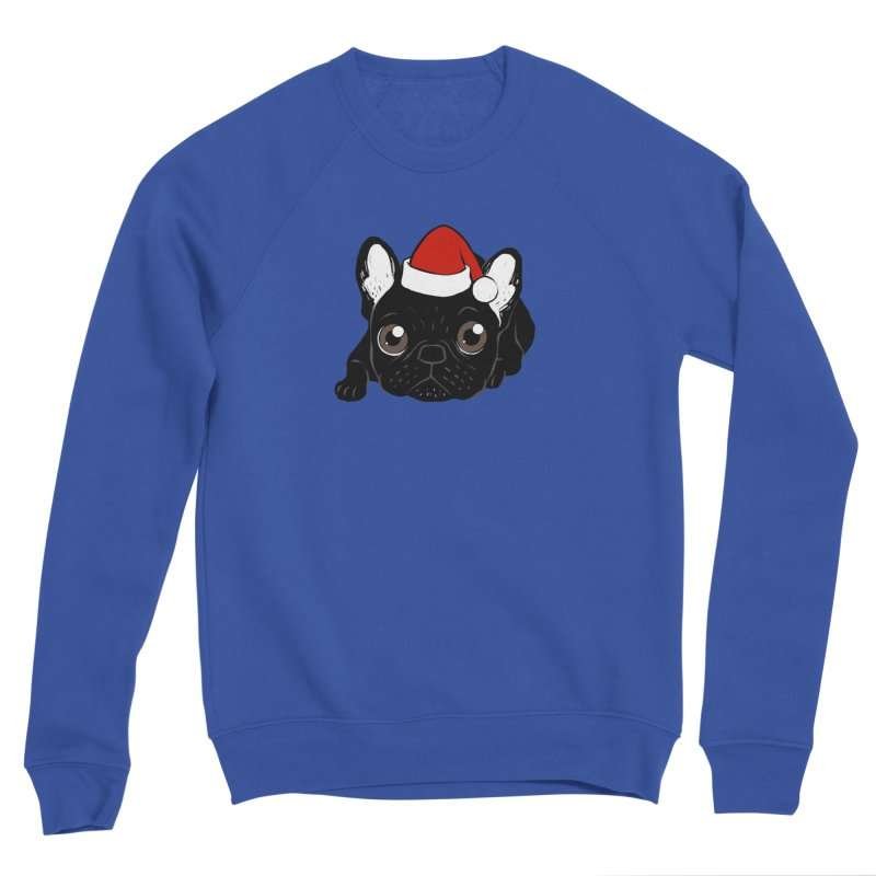 Brindle Frenchie loves Christmas season Women's Sponge Fleece Sweatshirt by Emotional Frenchies - Cute French Bulldog T-shirts