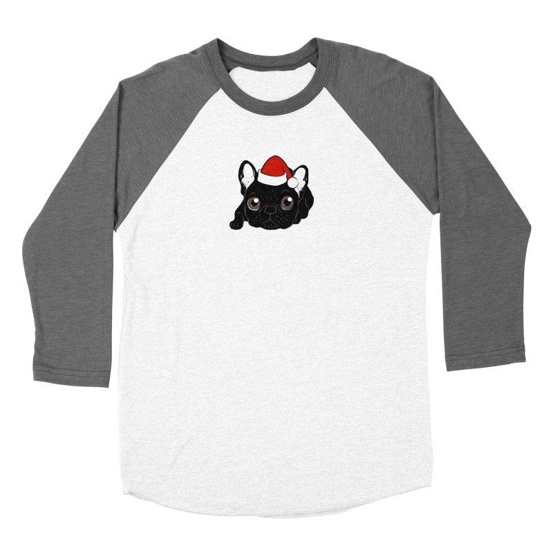 Brindle Frenchie loves Christmas season Women's Longsleeve T-Shirt by Emotional Frenchies - Cute French Bulldog T-shirts