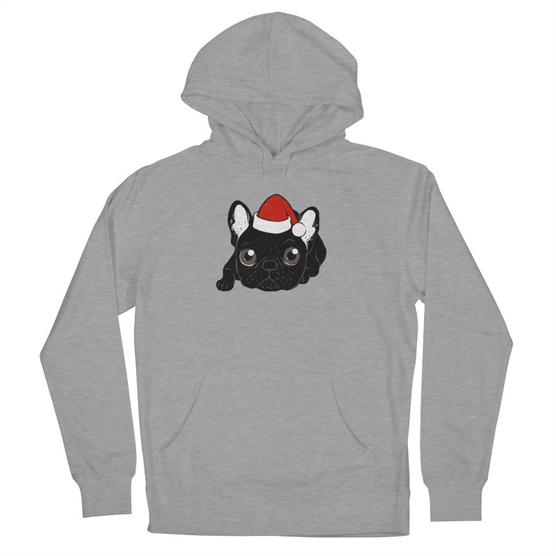 Brindle Frenchie loves Christmas season Women's French Terry Pullover Hoody by Emotional Frenchies - Cute French Bulldog T-shirts