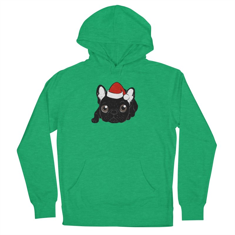 Brindle Frenchie loves Christmas season Men's French Terry Pullover Hoody by Emotional Frenchies - Cute French Bulldog T-shirts