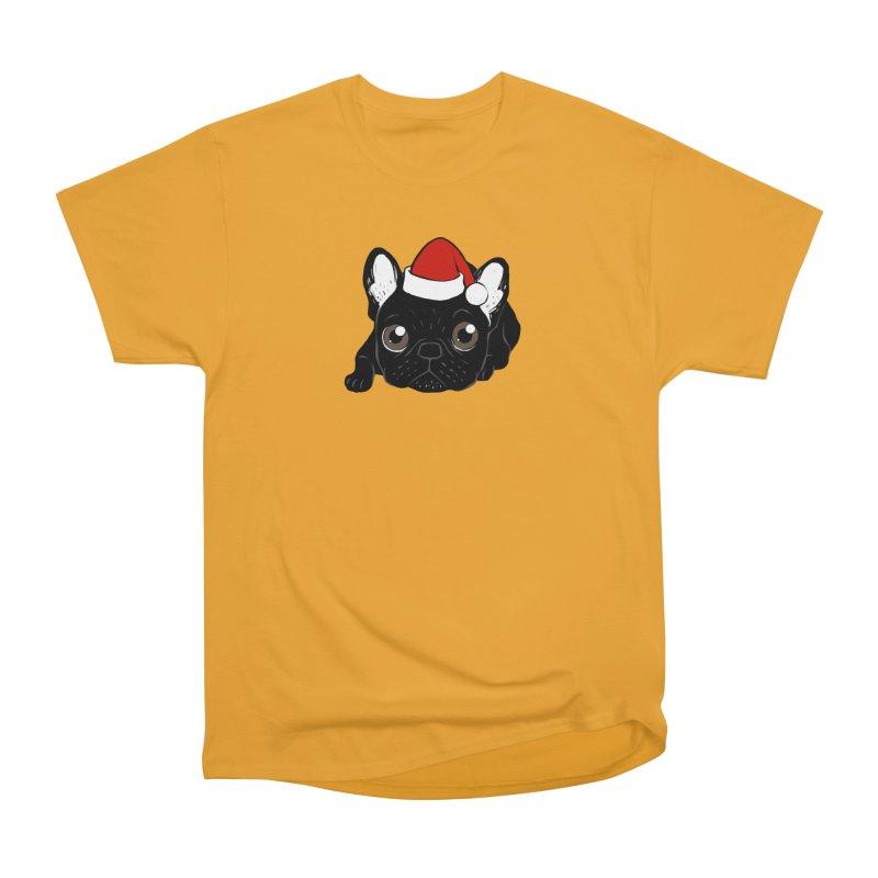 Brindle Frenchie loves Christmas season Men's Heavyweight T-Shirt by Emotional Frenchies - Cute French Bulldog T-shirts