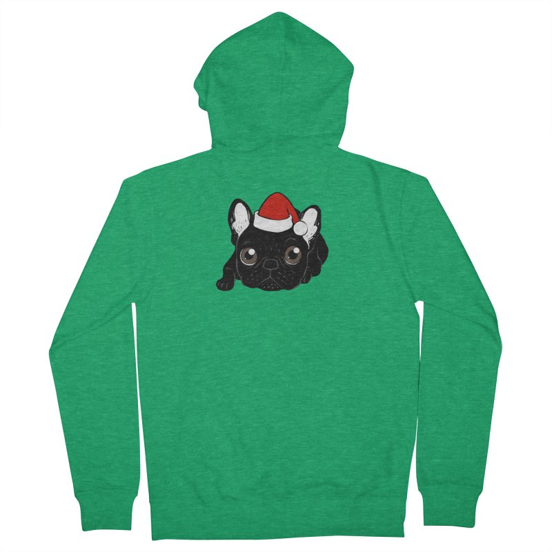 Brindle Frenchie loves Christmas season Men's Zip-Up Hoody by Emotional Frenchies - Cute French Bulldog T-shirts