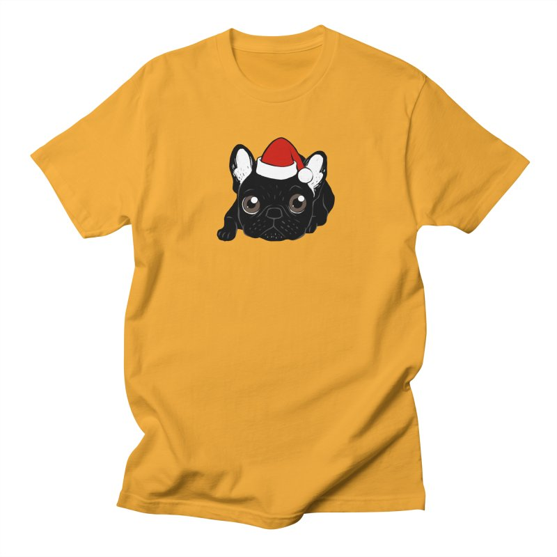 Brindle Frenchie loves Christmas season Men's Regular T-Shirt by Emotional Frenchies - Cute French Bulldog T-shirts