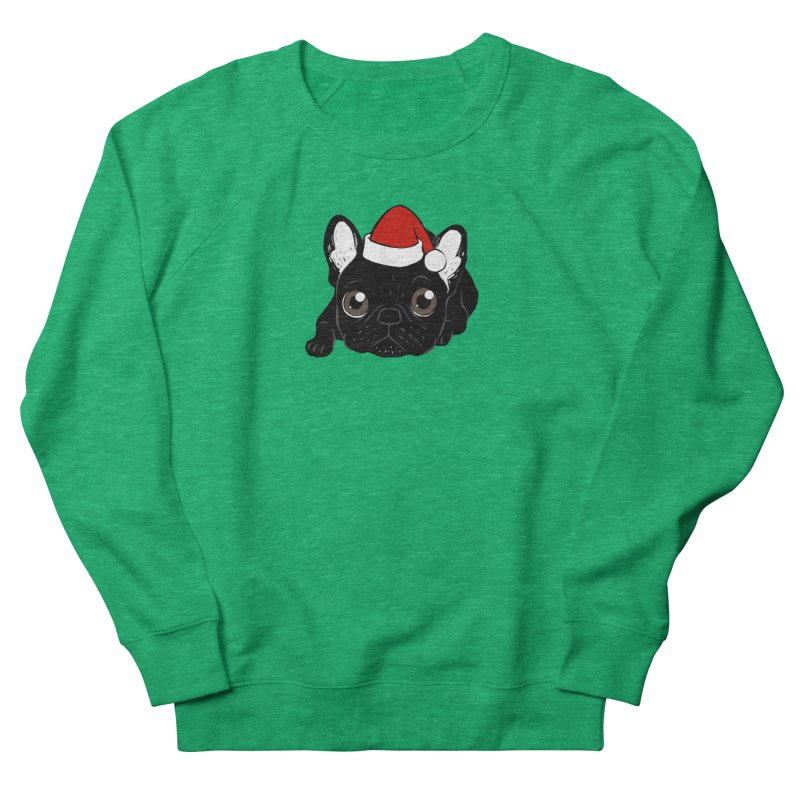Brindle Frenchie loves Christmas season Men's French Terry Sweatshirt by Emotional Frenchies - Cute French Bulldog T-shirts