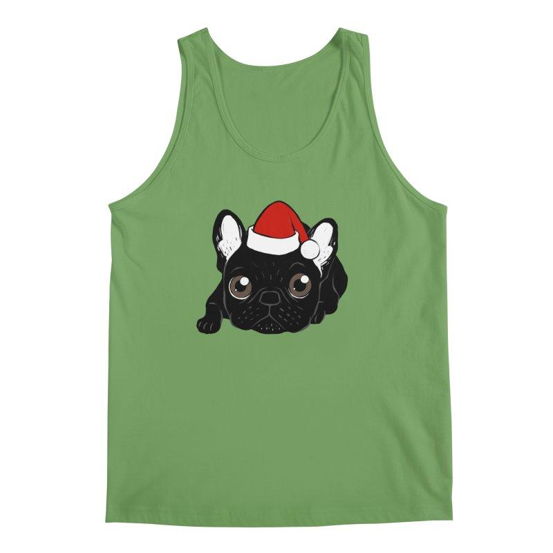 Brindle Frenchie loves Christmas season Men's Tank by Emotional Frenchies - Cute French Bulldog T-shirts