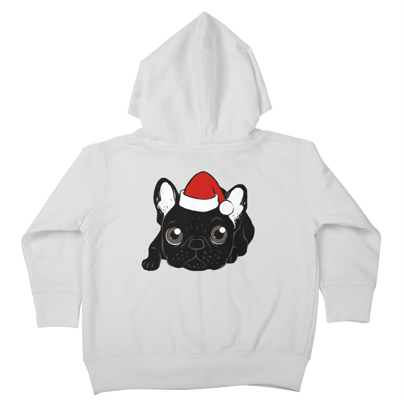 Brindle Frenchie loves Christmas season Kids Toddler Zip-Up Hoody by Emotional Frenchies - Cute French Bulldog T-shirts