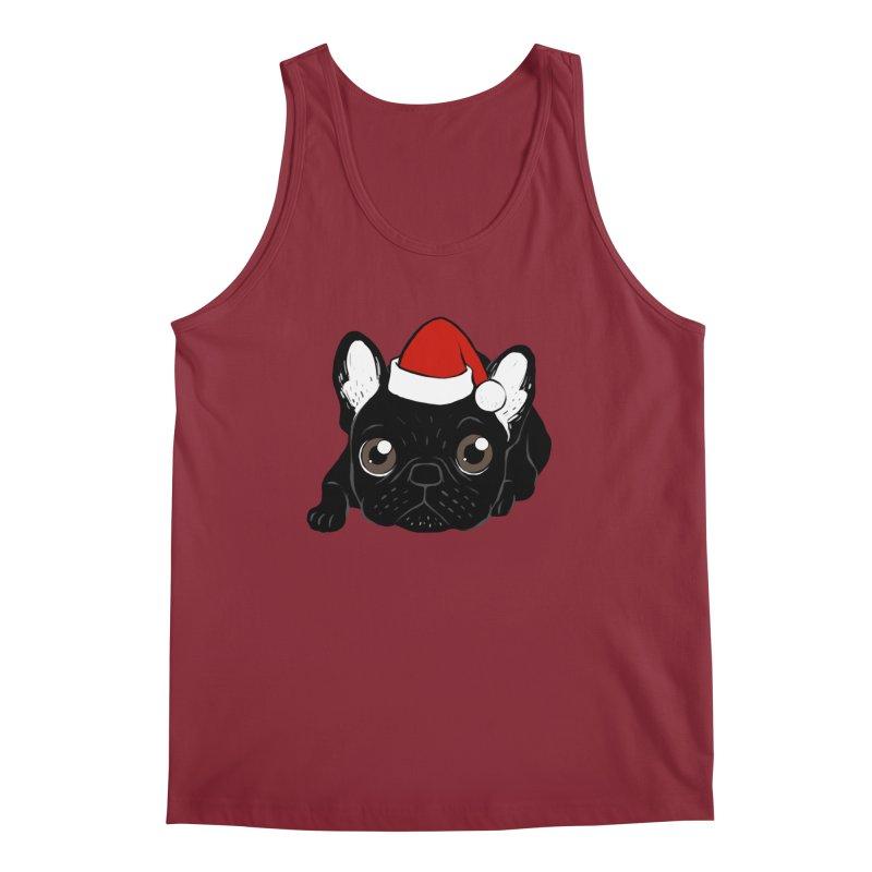Brindle Frenchie loves Christmas season Men's Regular Tank by Emotional Frenchies - Cute French Bulldog T-shirts