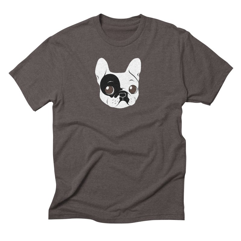 Single Hooded Pied French Bulldog Puppy Men's T-Shirt by Emotional Frenchies - Cute French Bulldog T-shirts